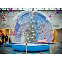 PVC Transparent Giant Inflatable Christmas Ball , Lighted Inflatable Snow Ball Customizable Manufactures