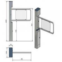 Security Swing Arm Turnstile Waist High Barrier Turnstile with remote control switch Manufactures