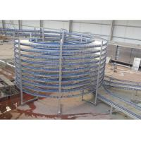 China High Capacity Food Cooling Conveyor Chain Spiral Conveyors New Condition on sale