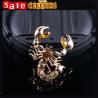 Statement Punk  Evil Animal Lizard Brooch Rhinestone Crystal Golden Man Women Brooch Gift Manufactures