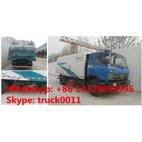 hot sale dongfeng Brand RHD 8tons street sweeping truck, Factory sale DONGFENG rhd 190HP diesel road sweeper truck Manufactures