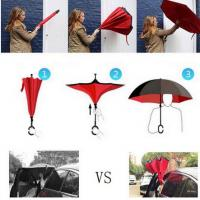 China Drop Shipping Windproof Reverse Folding Double Layer Inverted Chuva Umbrella Self Stand Rain Protection C-Hook Hands For on sale