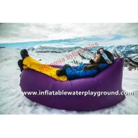 Quality High Elasticity Camping Sleep Air Bag Inflatable Banana Shape For 3 Seasons for sale