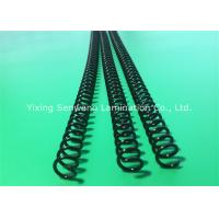 Quality Black Notebook Books Plastic Binding Coils 6-50 mm Make Sheet Lay Flat for sale