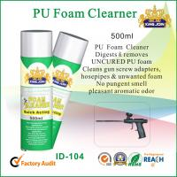 Multi Functional PU Waterproof Spray Foam Cleaner For Windscreen / Glass / Chrome Manufactures