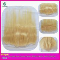 Buy cheap 7A malaysian virgin hair 3-part lace frontals 13''x4'' ,613# color straight hair from wholesalers