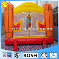 0.55mm PVC Tarpaulin Inflatable Sports Games Orange / Yellow Manufactures