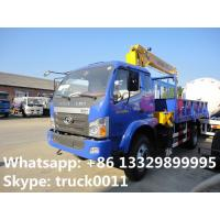 2017s best seller forland 4*2 6.3tons truck with crane for sale, hot sale! factory sale forland truck mounted crane Manufactures