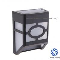 Quality Garden Decorative Solar Wall Lamp Black Finish Solar Powered Outdoor Wall Lights for sale