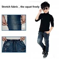 Hot sell wholesale children clothing adjustable elastic waist kids boys jeans Manufactures