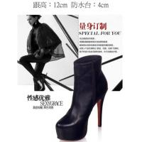 New Heavy-bottomed High-heeled Leather Boots Manufactures