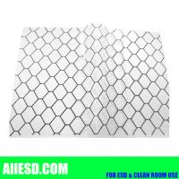 Transaprent 0.5mm thickiness conductive PVC grid sheet Manufactures