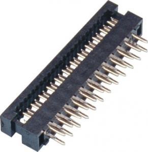 2.0mm DIP Plug Connector 2*12P PBT Black P/Bronze Tin Plating ROHS Manufactures