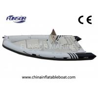 Motorized V - Shaped Hard Bottom Inflatable Boats 12 Person With CE Approved Manufactures