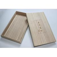 Lightweight Personalised Engraved Wooden Box , Paulownia Wooden Tea Bag Storage Box With Custom Logo Manufactures