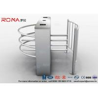 Semi Automatic Waist Height Turnstiles Entrance IC/ID Card Access Control AC220V Manufactures