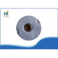 Iron Metal Eyelet Grommet For Industrial Eyelet Machine , Silver Color Eyelets For Fabric Manufactures