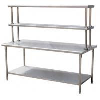 Quality Kitchen YX-H30-2 Stainless Steel Catering Equipment / Work Table With Top Rack for sale