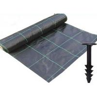 Durable Heavy Duty Weed Control Membrane , High Strength Black Weedblock Landscape Fabric Manufactures