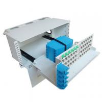 3U Height 96 Core Fiber Optic Distribution Frame For Telecommunications Subscriber Loops Manufactures