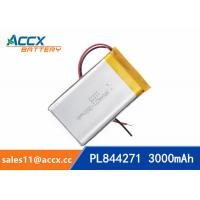 844271 pl844271 3.7V 3000mAh li-ion battery rechargeable polymer batteries Manufactures