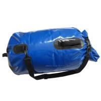 Blue Mesh Waterproof Camping Bag , PVC Dry Sack Backpack Easy To Store Away Manufactures