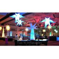 Party Stage Decoration Color Changing Inflatable Star With CE / UL Air Pump Manufactures