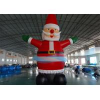 Christmas Santa Claus Inflatable Cartoon Characters Outdoor Advertisement Manufactures