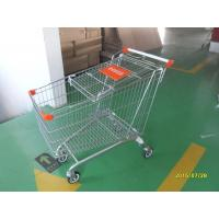 Safety Handle Bar 4 Wheel Shopping Trolley 210L With Colored Plastic Parts Manufactures