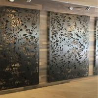 China Laser Cutting Perforated Facade Wall Decoration with Carved Aluminum Cladding Panel on sale