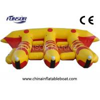 Quality PVC Towable Inflatable Flying Fish Boat For Water Amusement Equipment for sale