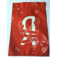 Metal Mylar Ziplock Red Aluminum Foil Ziplock Bags 3 Side Sealing Eco Friendly Manufactures