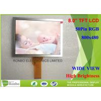 China High Brightness 8 Inch Tft Display , EJ080NA-05B 50 Pin TFT LCD Panel 800 X 600 Resolution on sale