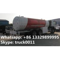 hot sale high quality 6x4 HOWO 25300 liters gas cylinder transportation, SINO TRUK howo 10MT lpg gas dispensing truck Manufactures