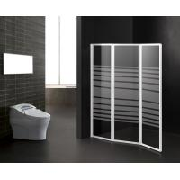 Foldable Bathtub Shower Screen Stripe Pattern Bathroom Partition Shower Door Manufactures