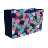 China Personalised Paper Carrier Bags Round Dot Square Bottom for Gift on sale