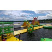 Funny Sports Game Inflatable Floating Water Park With Repair Kits / Air Pump Manufactures