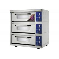 Energy -  Saving 3 Trays Stainless Steel Electric Baking Ovens Laminated - Type , Temperature Range 20 ~ 300°C Manufactures