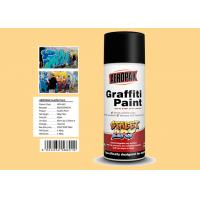 Cream Yellow Color Graffiti Spray Paint Acrylic Material For Decorating Manufactures