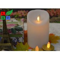 Quality Remote Controlled Flameless LED Candle Lights , Pillar Flickering LED Commercial Shop Lights for sale