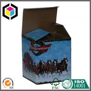 Matte Beer Bottle Custom Color Design Print Corrugated Packaging Box Manufacturer Manufactures