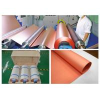 China Rolled Conductive Copper Foil Tape , Custom Inner Diameter Copper Foil Sheet Roll on sale