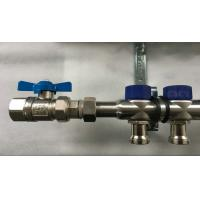 Short Flowmeter S S 304 9 zones House Water Manifold for Floor Heating Systems Manufactures