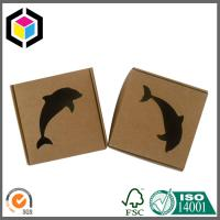 Quality Small Size Corrugated Shipping Box; Black Color Logo Print Kraft Paper Box for sale