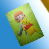 China PLASTICLENTICULAR 3D lenticular card/pp/pet/pvc kids promotional gifts cards/playing card on sale