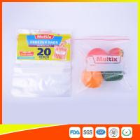 Biodegradable Freezer ZipLock Plastic Bags For Supermarket / Household Manufactures