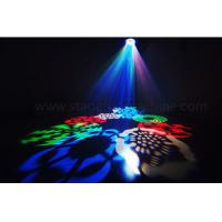 Quality LED Mini Gobo Light Disco Lights 8 Pcs 3 Watt RGBW Cree LEDs Auto Sound DMX for sale