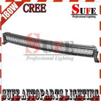 New Curved 33'' 180W CREE Led Light Bar 4x4 Truck Driving Light Off road Spot Flood beam Manufactures