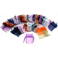Custom colorful drawstring fabric organza gift pouches sheer bag for cell phone  Manufactures