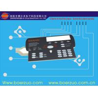 Tactile Metal Dome Flexible Membrane Switch , Embossed Overlay Button Manufactures